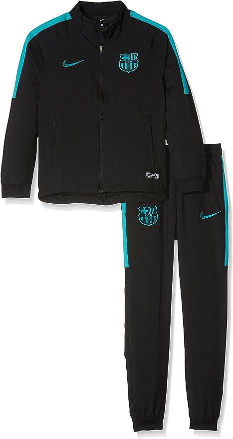 Nike 810779-014 Chandal Fútbol Club Barcelona, Niños,negro ...