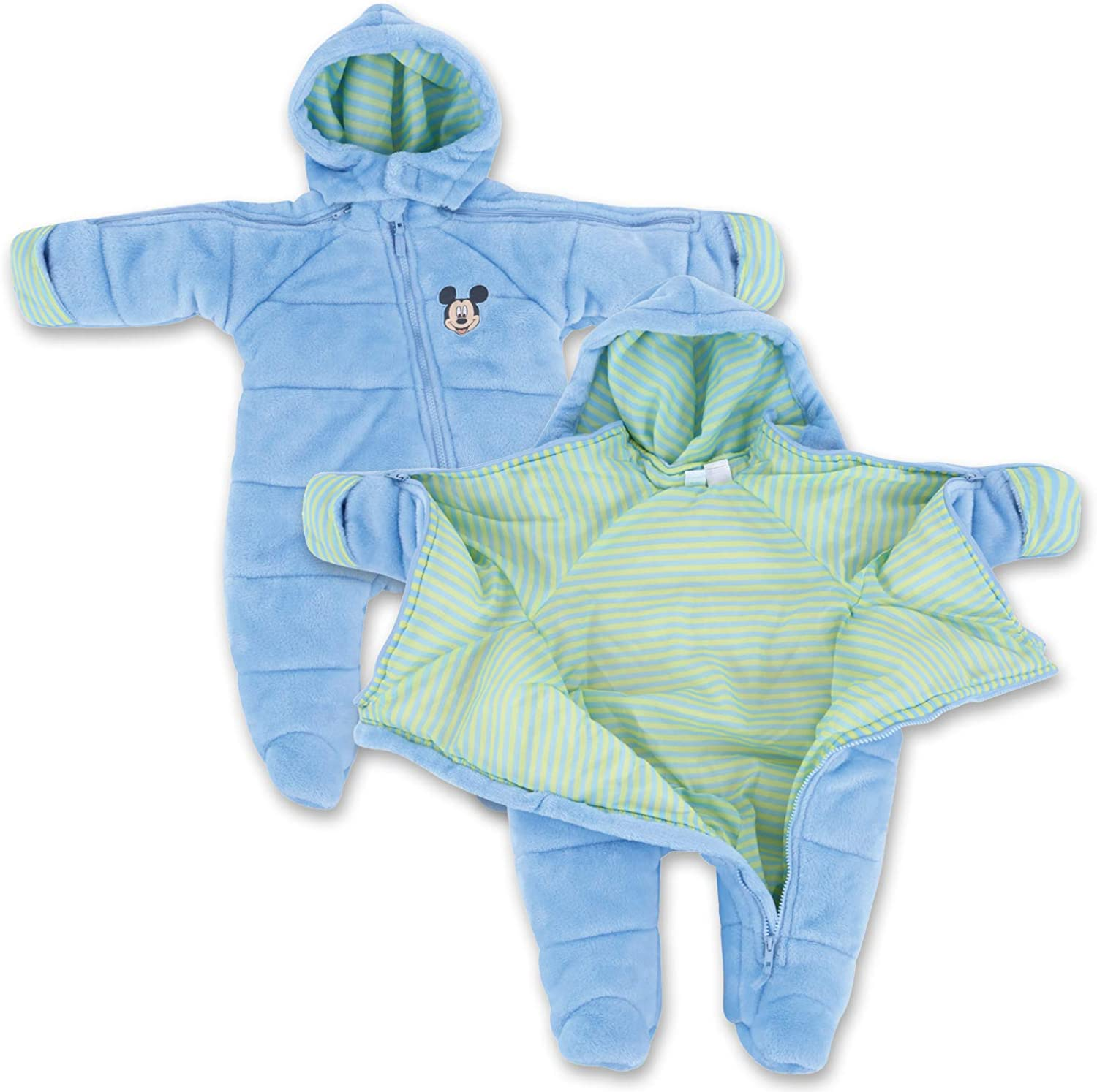 Perfect Baby Gift Great for Sleeping Children Infant Boy EZ Off Full Zip Hooded Warm Jacket