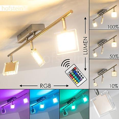 Plafoniera Design Moderno Con Faretti- Luce LED Orientabile con Cambia  Colore e Telecomando- Plafoniera ideale Per Soggiorno Cameretta e Camera da  ...
