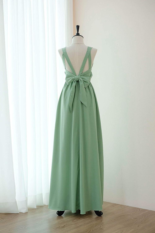 Amazon Sage Green Bridesmaid Dresses Prom Party Wedding
