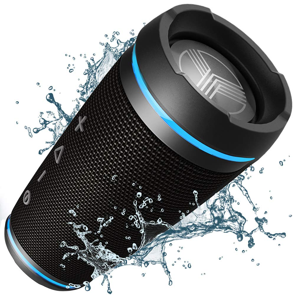 TREBLAB HD77 - Ultra Premium Bluetooth Speaker - Loud 360° HD Surround Sound, Wireless Dual Pairing, Best 25W Stereo, Loudest Bass, 20H Battery, IPX6 Waterproof, Sports Outdoor, Portable Blue Tooth by Treblab