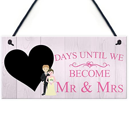 Kue Herp Countdown Days Until Mr & Mrs Couple Chalkboard ...