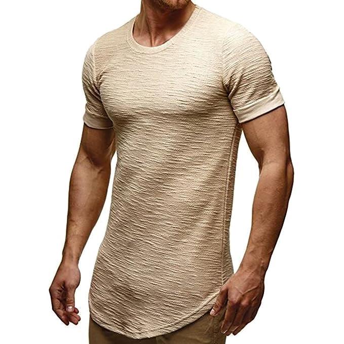 junkai Camiseta De Manga Corta con Cuello EN V para Hombre De Verano Nueva Camiseta con