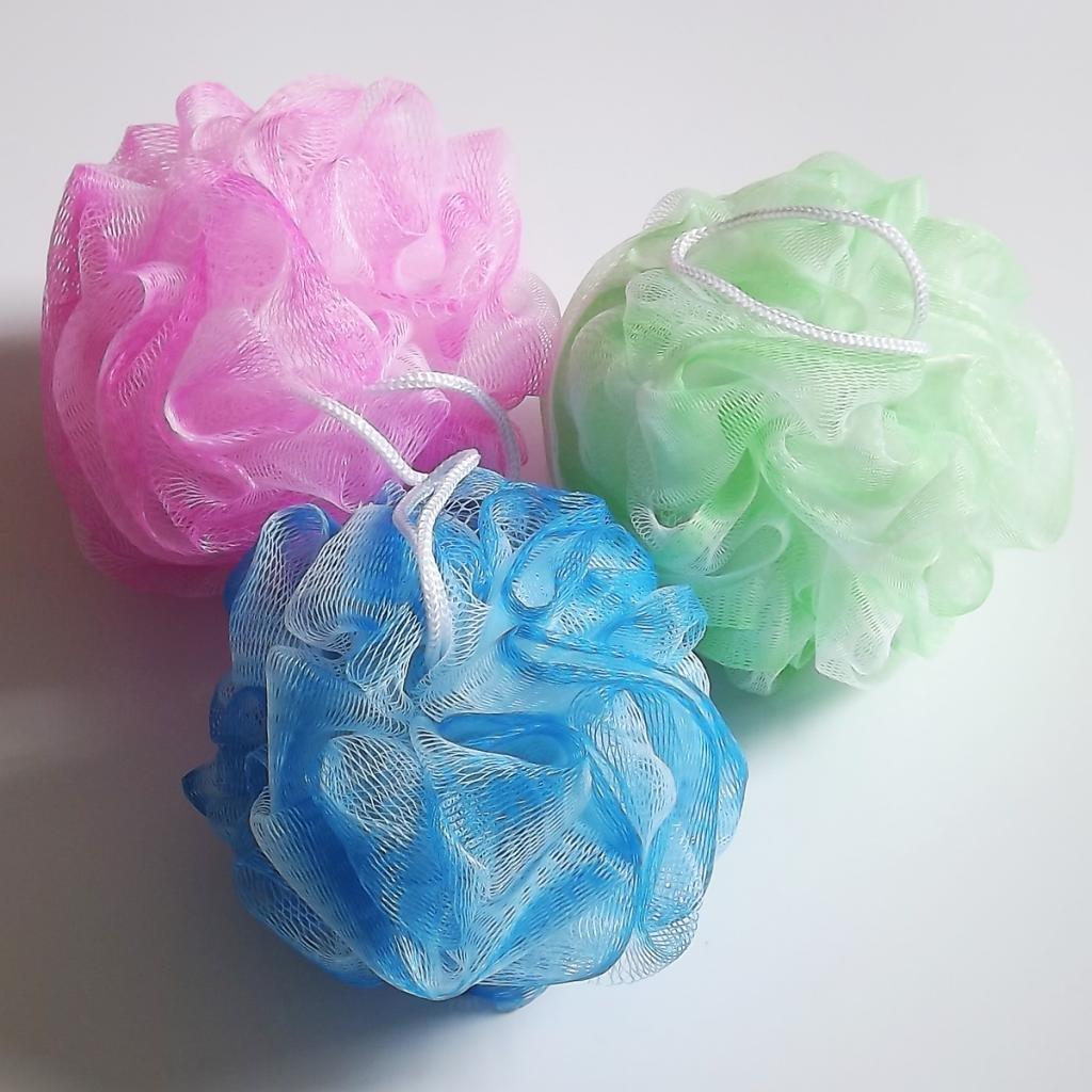 Amazon.com: Bath Sponge Set Body Shower Scrunchie Puff Wash Scourer ...