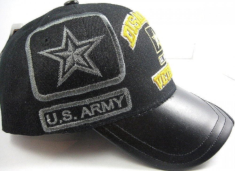 Black K /& S Unique US Honor Disabled U.S Army Star Veteran Vinyl Bill Shadow Mens Cap