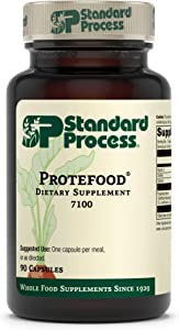 Standard Process Protefood -Whole Food RNA Supplement, Bone Health, Metabolism and Immune Support with Organic Carrot, Choline, Wheat Germ, Amino Acid, Calcium, Protein - 90 Capsules