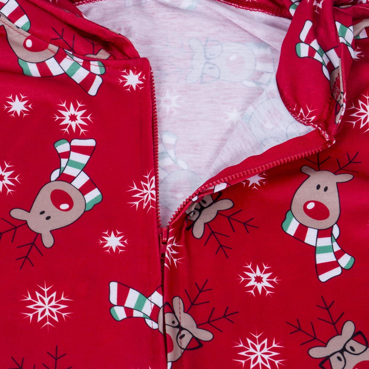 Family Matching ChristmasHoodie JumpsuitPajamasSetsLong Sleeve Sweatshirt