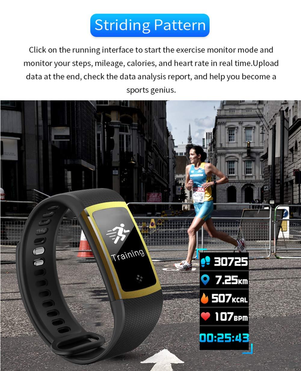 LIGE Rastreador de Fitness, Reloj de Pulsera Inteligente ...