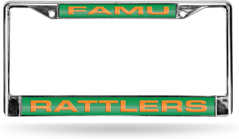 Rico Industries NCAA Fan Shop Laser Cut Inlaid Standard Chrome License Plate Frame