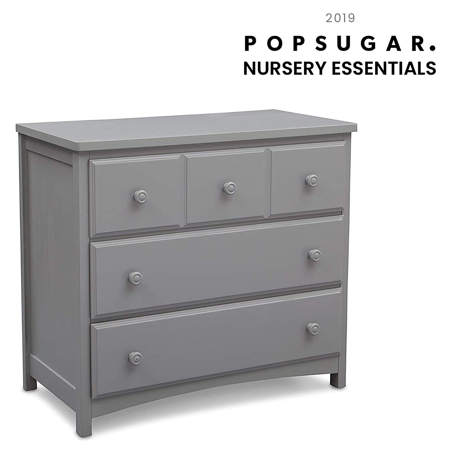 Delta Children 3 Drawer Dresser, Grey