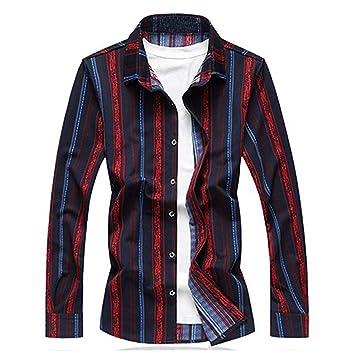 Autumn Casual Slim Fit Men Long Sleeve Shirt Mens Fashion Cotton Men Plaid Shirt Social Mens Dress Shirts Plus Size 4xl 5xl Sale Price Men's Clothing Casual Shirts