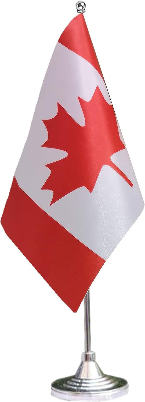 tibijoy Canada Desk Flag with Stand,Small Mini Canadian Table Flag Holder,Miniature Desktop Flag,International Table Decoration,Festival Events Celebration,Home Desk Decoration