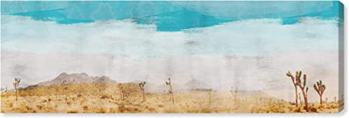 Amazon Brand Stone Beam Contemporary Turquoise and Tan Desert Scene on Canvas Wall Art