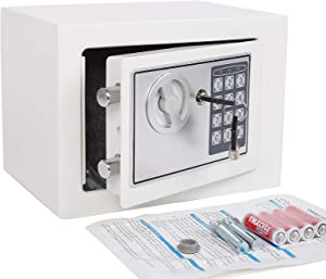 Electronic Deluxe Digital Security Safe Box Keypad Lock Home Office Hotel Business Jewelry Gun Cash Use Storage (Silver 1)