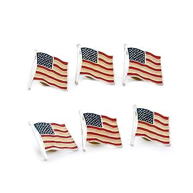 Topwholesalejewel American Flag Pin 6 Pcs
