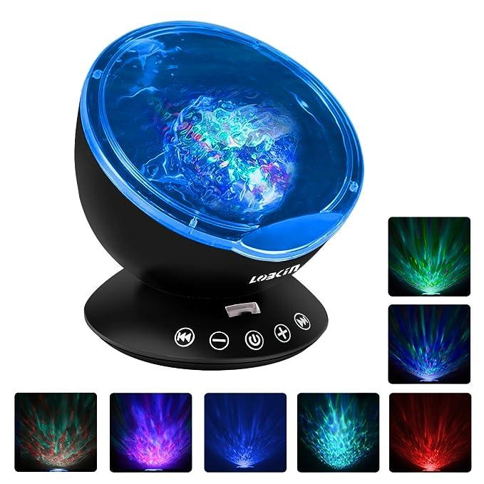 Proyector de luz de Lobkin, con mando a distancia, efecto aurora ...