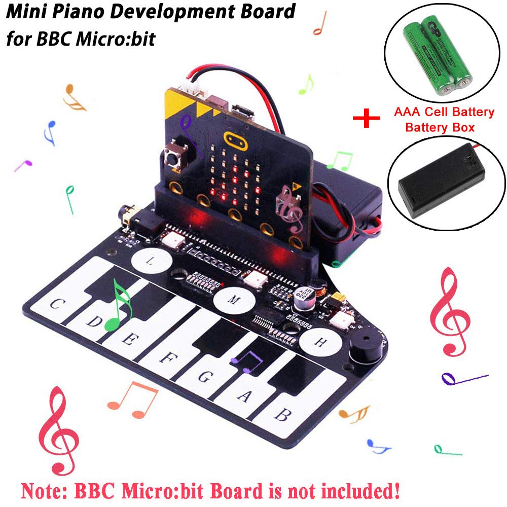 Makerfocus Placa De Expansion Bbc Microbit Placa De Desarrollo De Piano Para Bbc Micro: Placa De Desarrollo De Placa De
