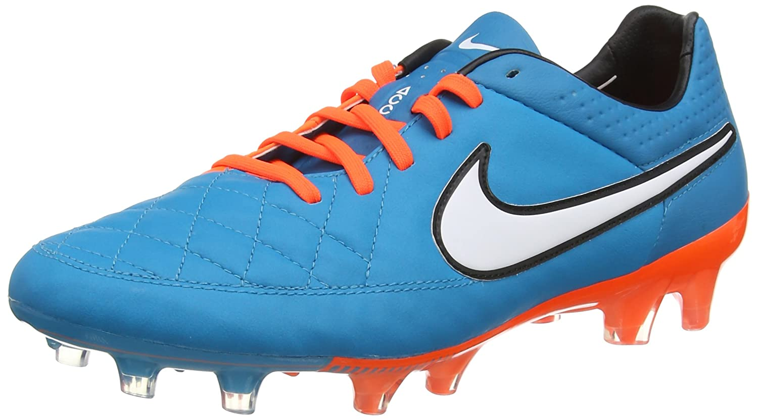 premium selection fc140 cddc5 Amazon.com | Nike Tiempo Legend V FG (Blue/Orange) | Soccer