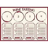 Creative Converting 325098 Wine Flight Tasting Placemats, Wine Flight Tasting Placemats