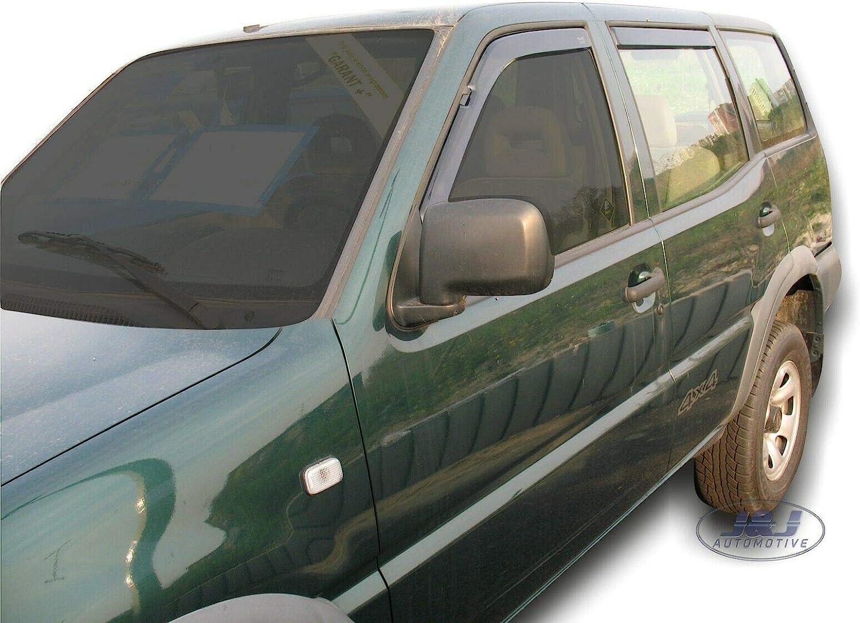 J/&J Automotive 4 piezas Deflectores de viento para Nissan Terrano II 5 puertas 1993-2004