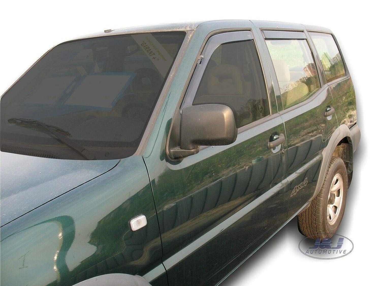 J/&J AUTOMOTIVE Deflecteurs dair d/éflecteurs de Vent Compatible avec Nissan Terrano II 5 Portes 1993-2004 4 pi/èces