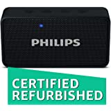 (Certified REFURBISHED) Philips BT64B Portable Bluetooth Speakers (Black)