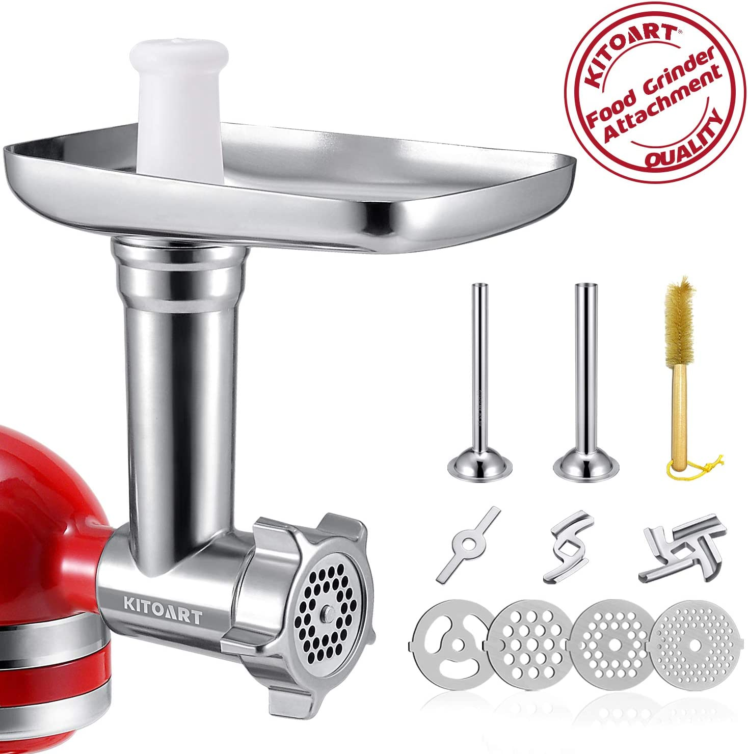 Metal Food Meat Grinder Attachment Compatible Kitchen Aid Stand Mixer Accessory