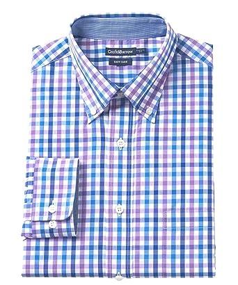 41196948a4eb Croft   Barrow Men s Classic Fit Easy Care Button-Down Dress Shirt Purple  (18 quot