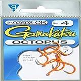 Gamakatsu 02608-p Octopus Fishing Hook Fluorescent Pink Size 4 for sale online