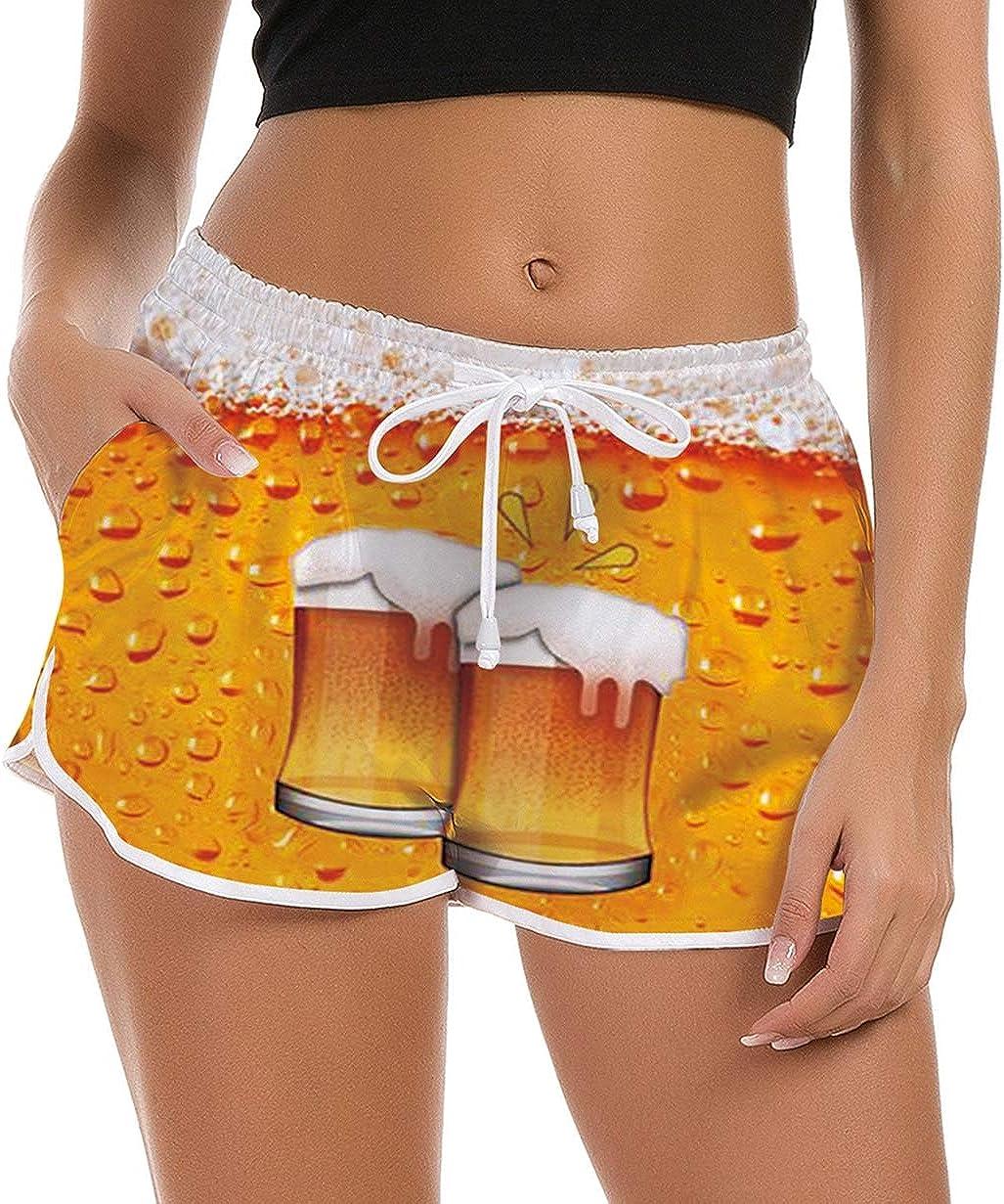 Fanient Shorts Mujer Pantalones Cortos de Nadar Moda Pantalones de Pijama Cortos Mujer Traje de ba/ño de Verano Gimnasio Entrenamiento Pantalones Deportivos con cord/ón Ajustable Pantalones de Yoga