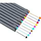 NIUTOP Fineliner Color Pen Set 0.38mm Colored Fine Liner Sketch Drawing Pen Perfect for Coloring, Bullet Journaling and Note Taking, Pack of 10