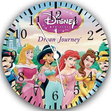 Amazon.com: Disney Princess Frameless Borderless Wall Clock W228 Nice For Gift or Room Wall Decor: Home & Kitchen