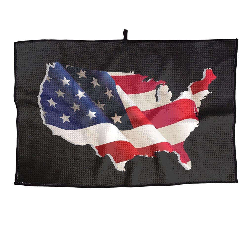 ゲームLife American Flag Personalizedゴルフタオルマイクロファイバースポーツタオル   B07FC8J7CB
