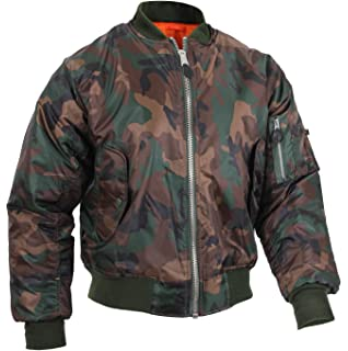 7a5b6d53d73 Mil-Tec MA-1 Flight Jacket Woodland at Amazon Men s Clothing store