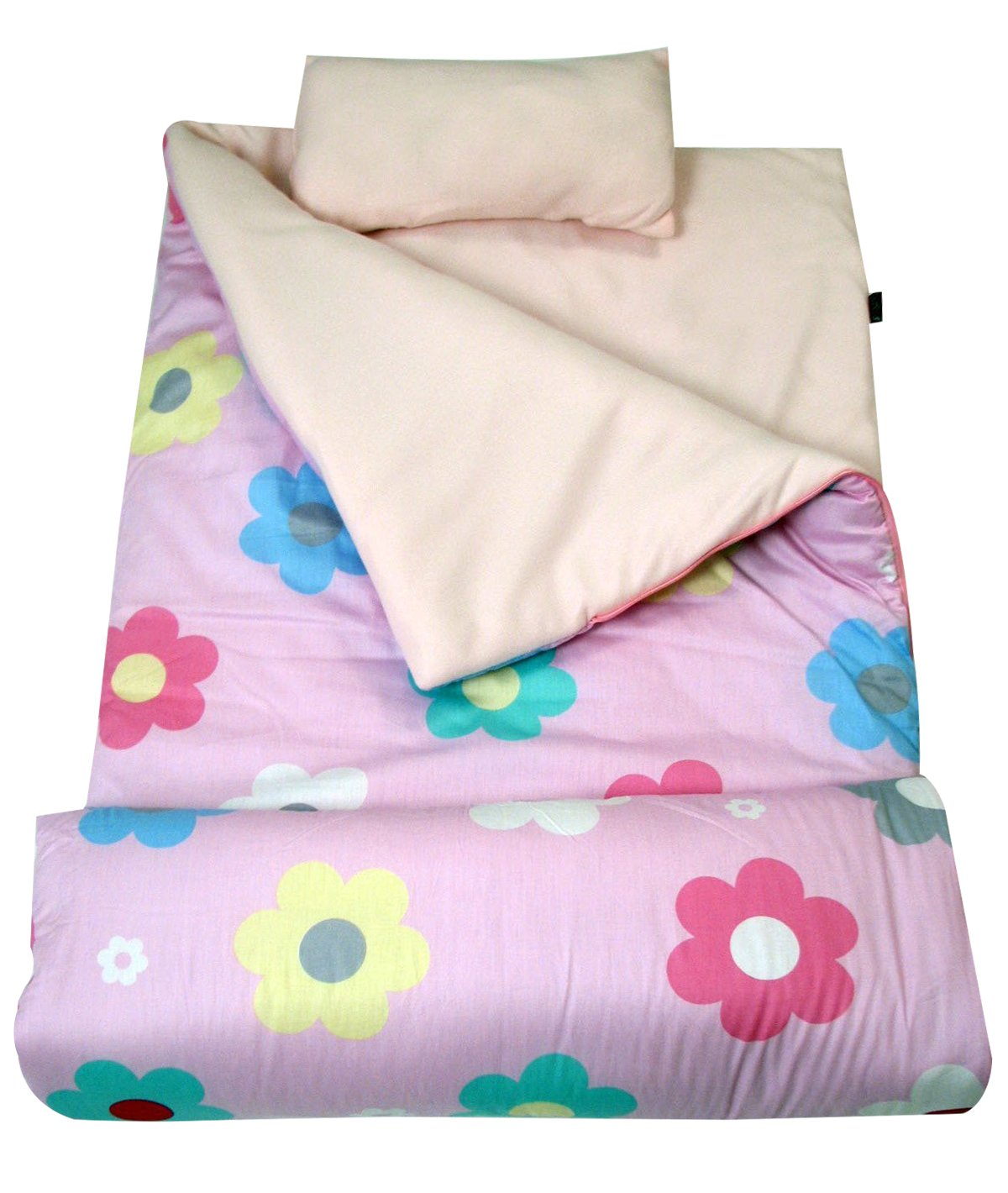 SoHo kids My Lovely Flowers children sleeping slumber bag with pillow and carrying case lightweight foldable for sleep over