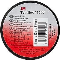 3M TSCH1510 Temflex 1500 vinyl elektrische isolatietape, 15 mm x 10 m, 0,15 mm, zwart