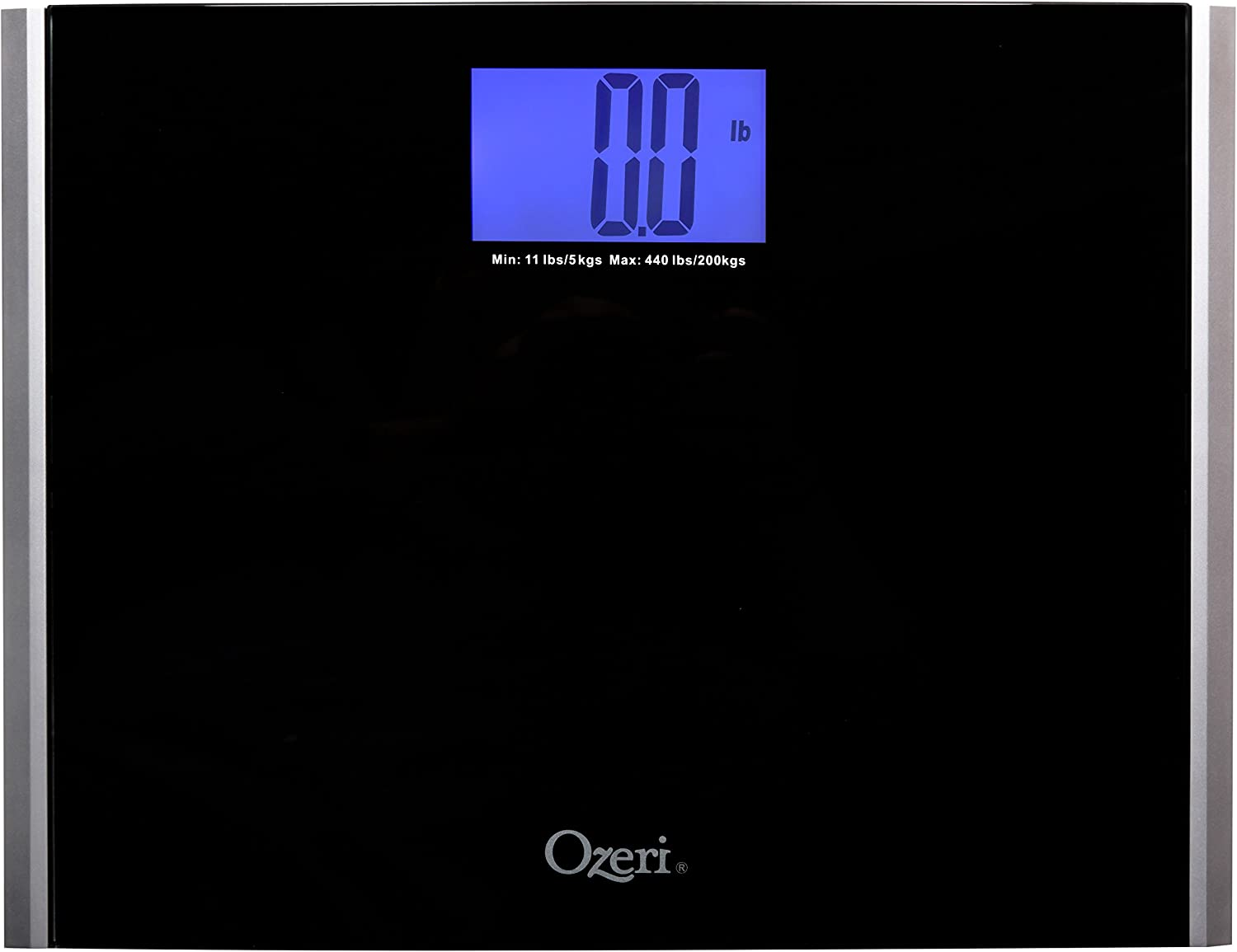 Ozeri Precision Pro II Digital Bath Scale 440 lbs Capacity with Weight Change Detection Technology