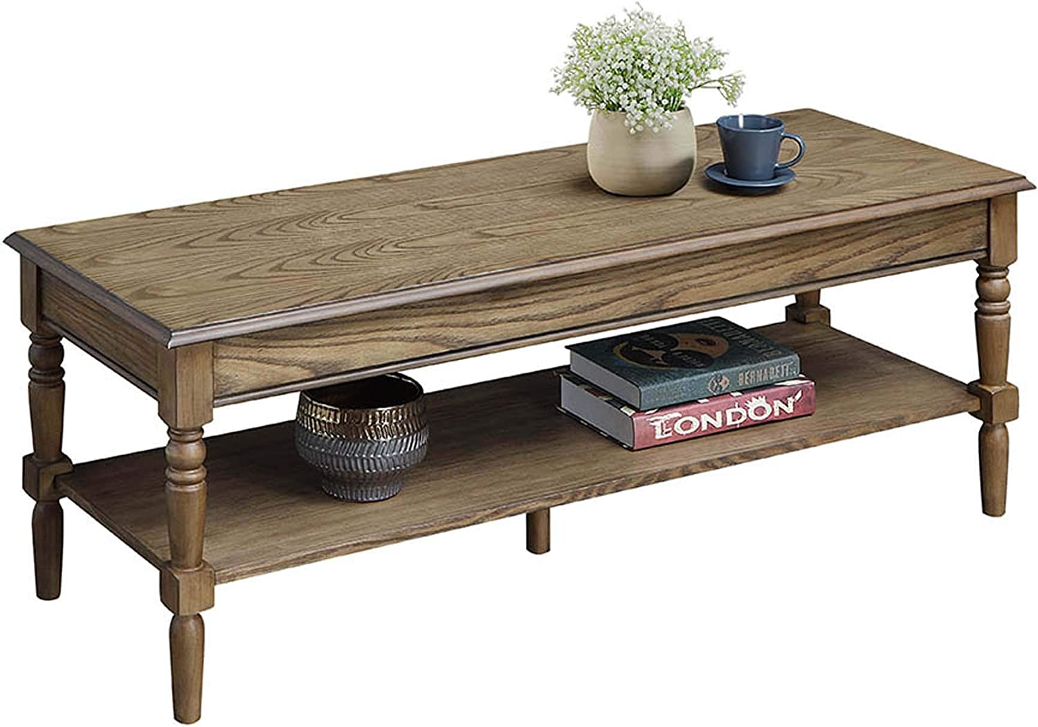 Convenience Concepts French Country Coffee Table With Bottom Shelf Black Furniture Kolenik Living Room Furniture