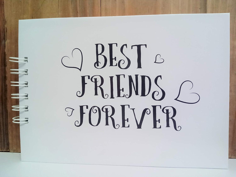 Friends Like Stars Quote Scrapbook Best Friend Memory Book Keepsake Gift Idea