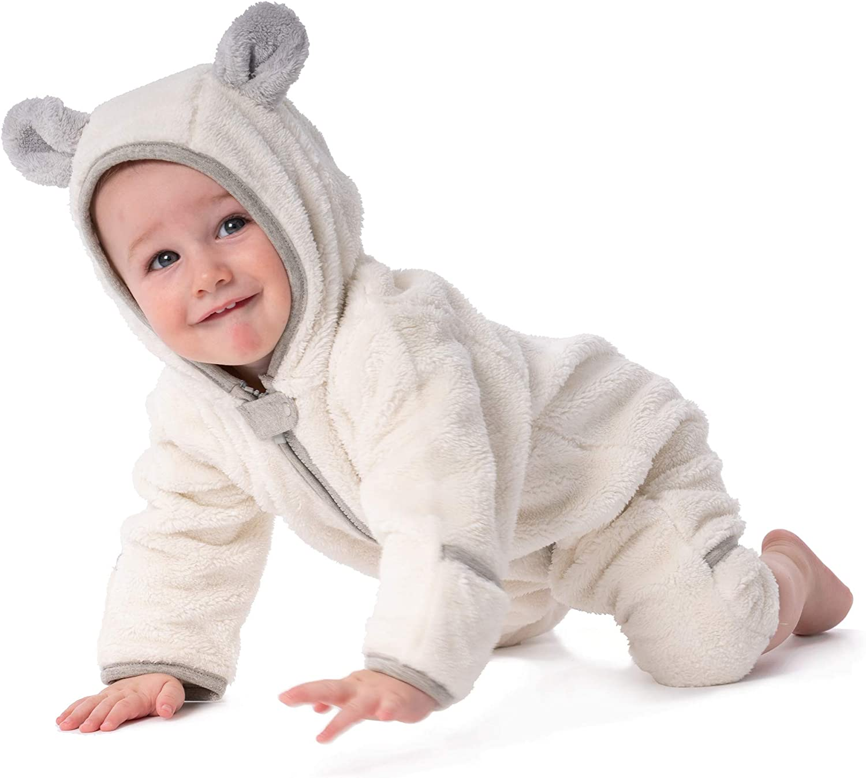 baby deedee Fleece Bear Warm Baby Romper Bunting 12-18M Blue