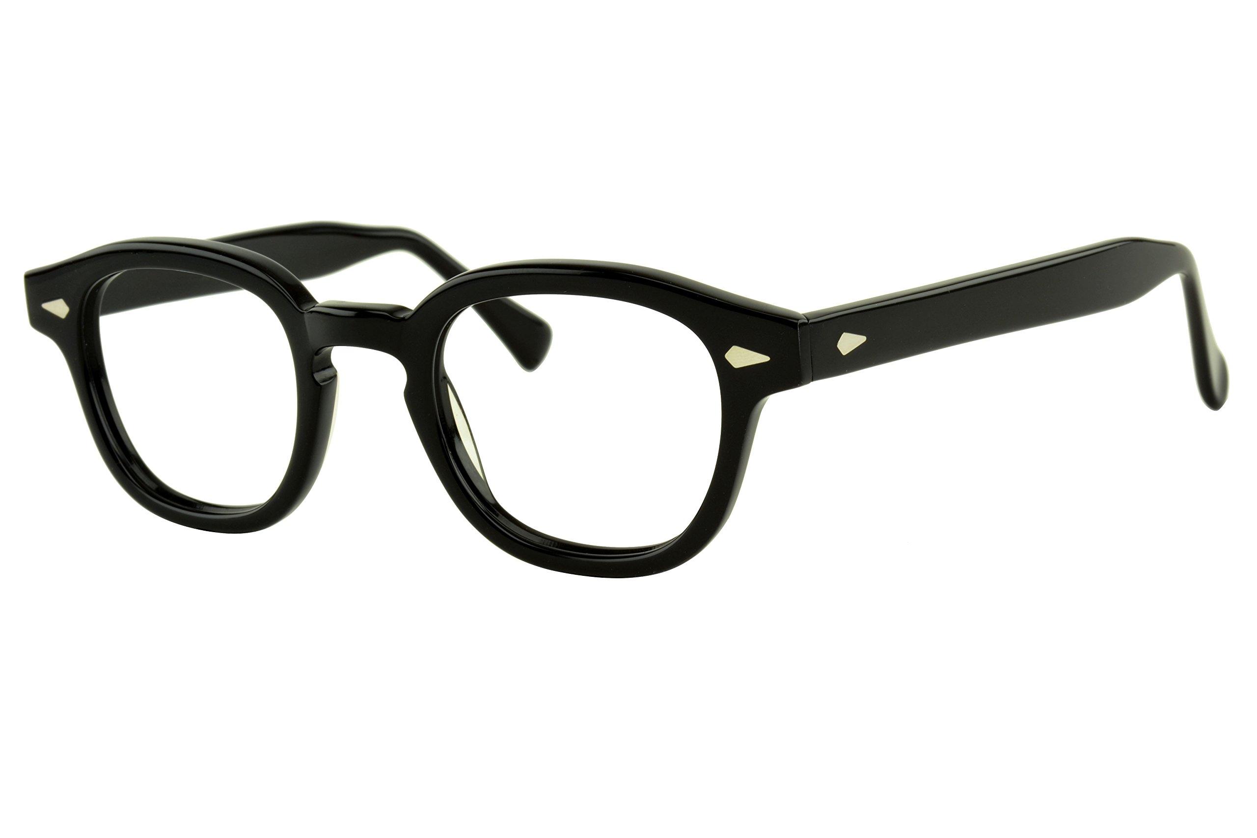 Verona Love Hand-Made Acetate Non Prescription Eyeglasses Frame Premium Eyewear Clear Lens Vintage Style Glasses Frames (VLV44 C001)