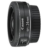 Canon EF-S2428STM EF-S 24 mm f/2.8 STM Lens - Black