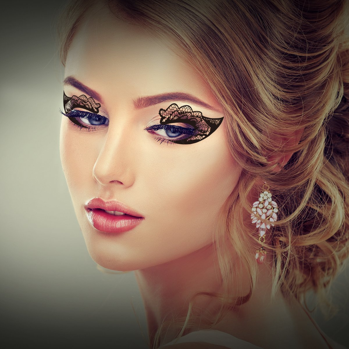 Temporary Eye Tattoo, 18 Pairs Eye Tattoo Stickers with Waterproof Eyeshadow and Eyeliner Designs