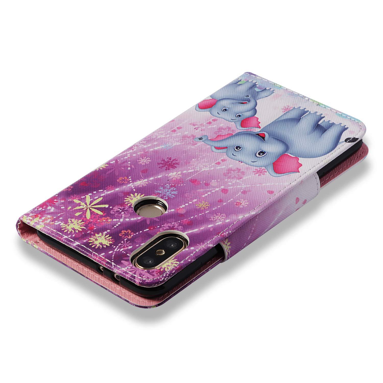 Funda Compatible con Xiaomi Mi 6X//Mi A2 Carcasa Billetera Cuero,Brillante Flip Wallet Pintado Dise/ño PU Cubierta Antigolpes Antichoque Case con Stand Slot Cierre Magn/ético.Panda