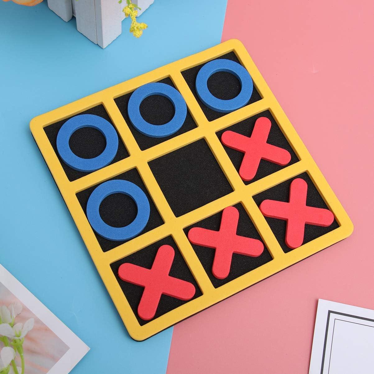 TOYANDONA 3 St/ück Tic Tac Toe Brettspiele tragbare Puzzle Board kognitive Lernspielzeug Schach Lernspielzeug f/ür Kinder
