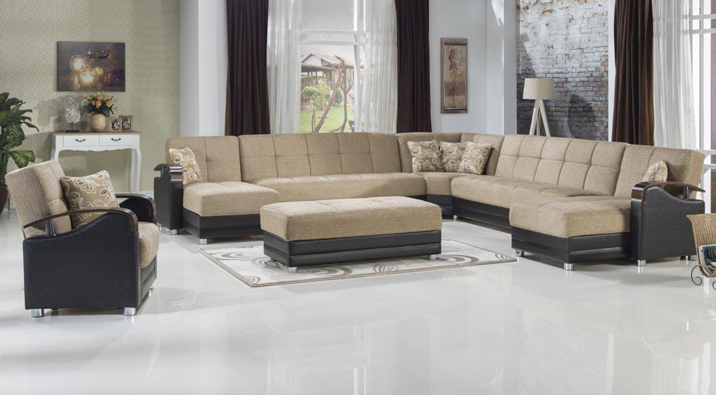 Amazoncom Istikbal Luna Modular Sectional Love Seat Ottoman
