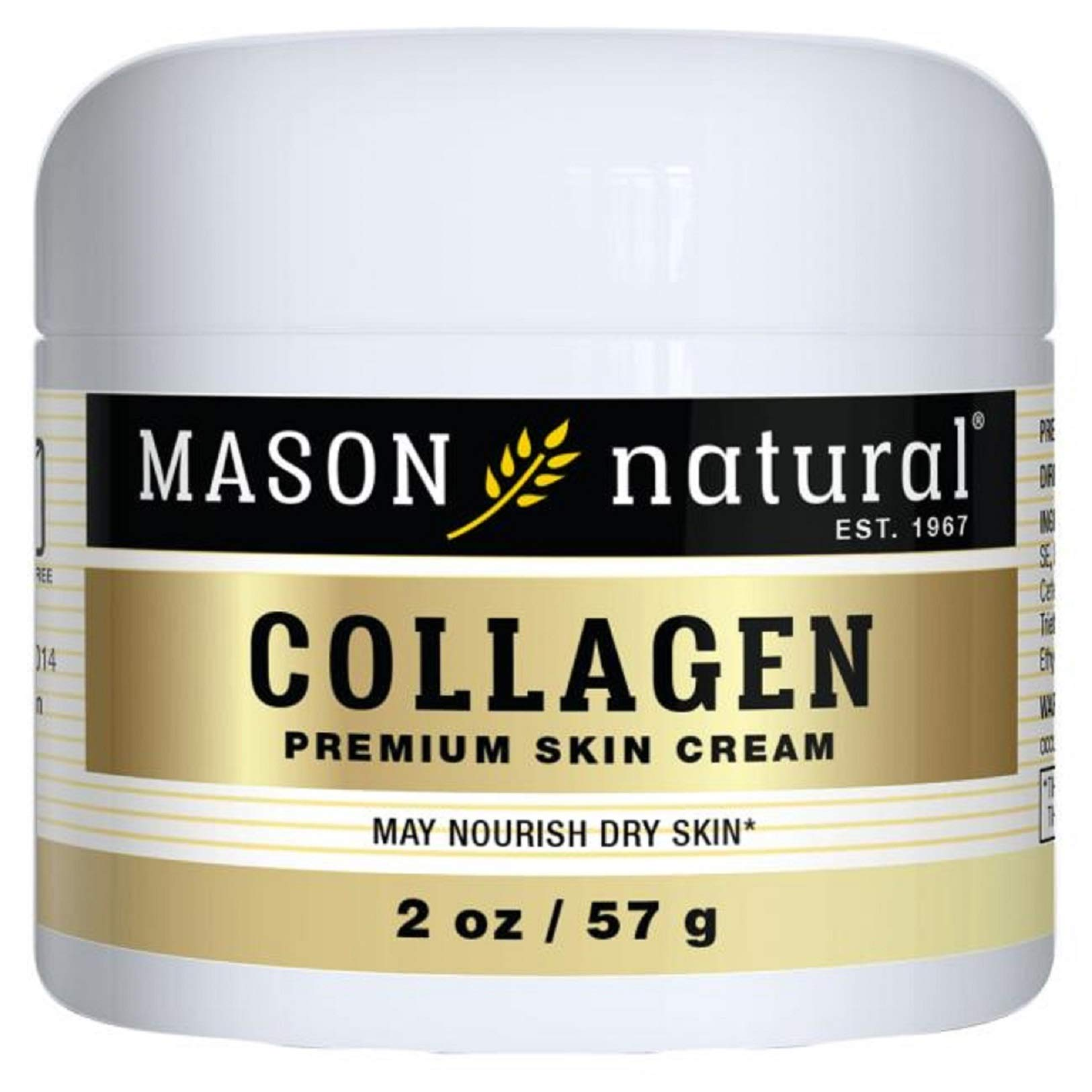 Mason Vitamins Collagen Beauty Cream 100% Pure Collagen Pear Scent, 2-Ounce Jars