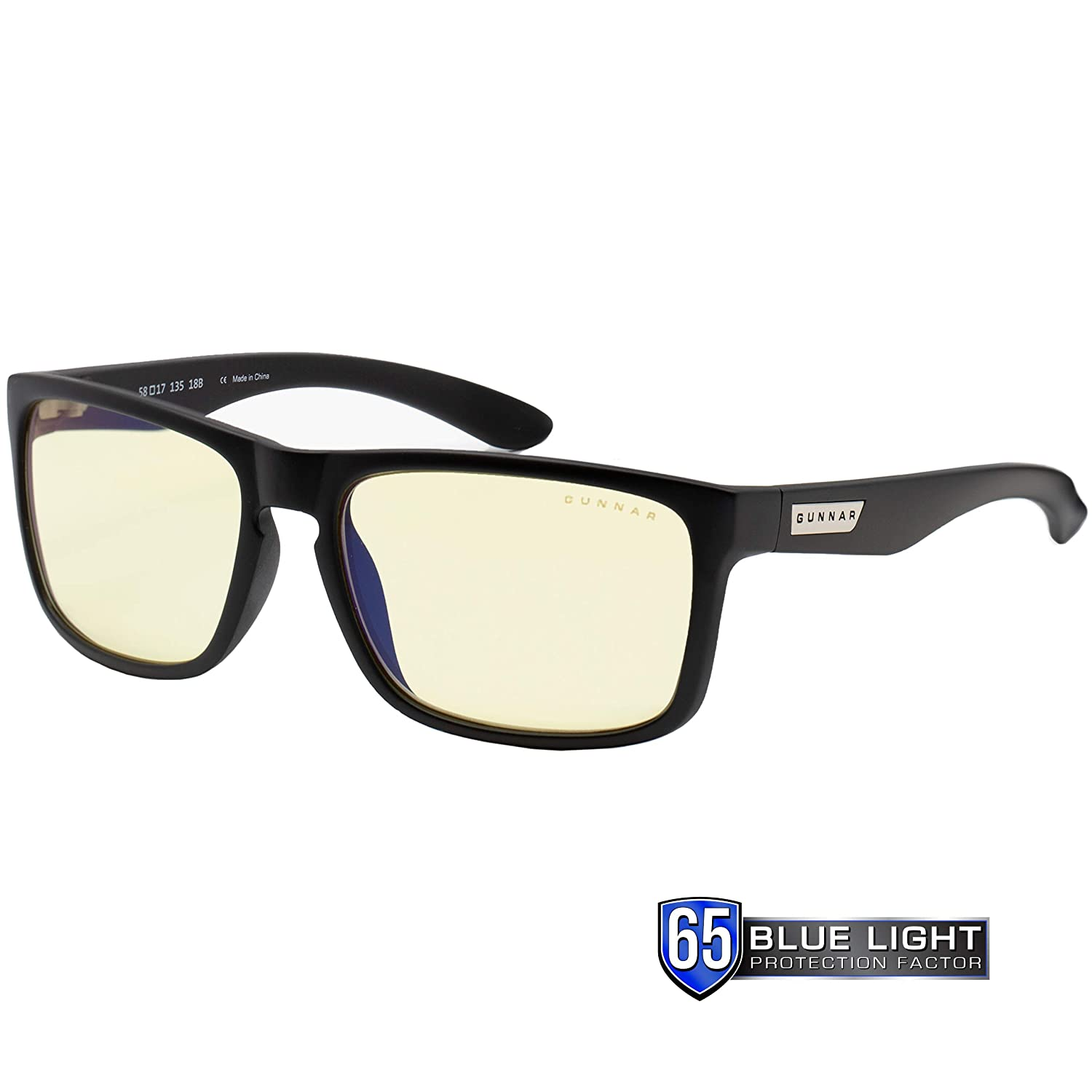 Gaming Glasses 100/% UV Light 98/% Blue Light Protection Intercept//Onyx by Gunnar Blue Light Blocking Glasses Anti-Reflective To Protect /& Reduce Eye Strain /& Dryness