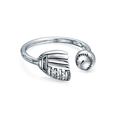 b0810516e Amazon.com: Baseball Catchers Mitt Sports Keychain Engravable Type Key Ring  Holder For Men For Women 925 Sterling Silver: Jewelry