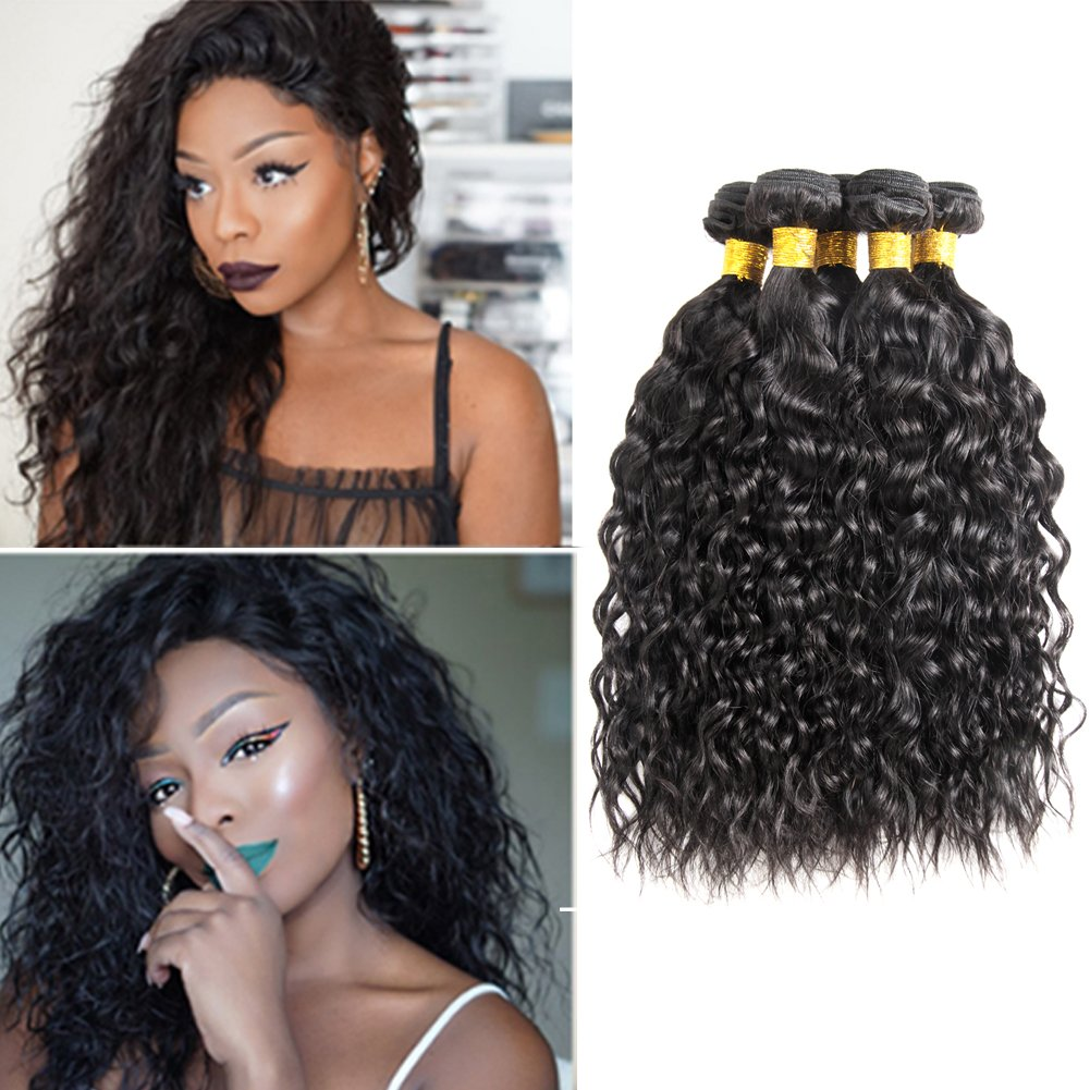 10a Malaysian Water Wave 4 Bundles Remy Wet And Wavy Human Hair